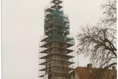 Eingerüstete Kirche 1997