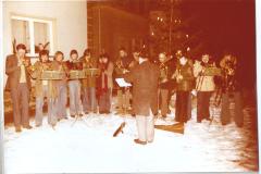 Neujahrsauftritt des Posaunenchors 1977