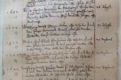 Die Pfarrbucheinträge beginnen im Pfarrarchiv im Jahr 1601 (hier das Taufbuch)