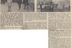 Zeitungsbericht über Fremdenverkehr in Binzwangen 1970